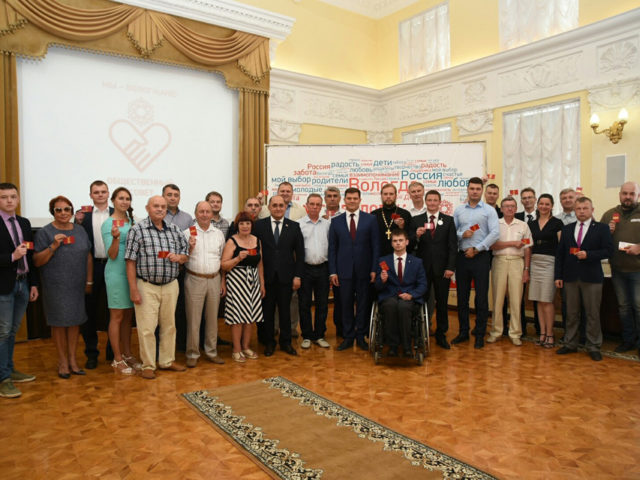 Вологда: А. Сазонов на вручении благодарности от мэра Вологды Ю.В. Сапожникова