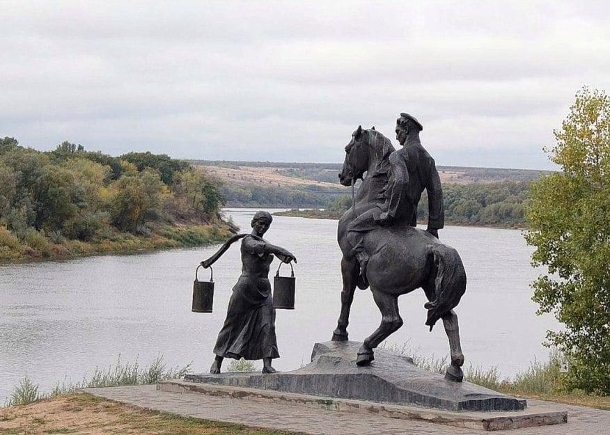 Фото 1 Памятник встречи Григория с Аксиньей